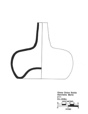 Artifact Drawing - Glass Onion Bottle