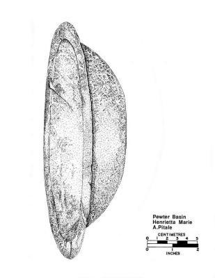 Artifact Drawing - Pewter Basin