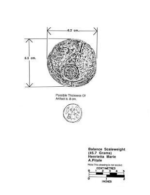 Artifact Drawing - Balance Scale Weight