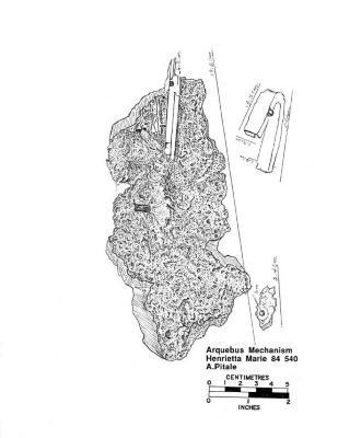 Artifact Drawing - Arquebus Mechanism